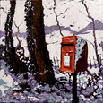 Snowy Post Box by Timmy Mallett