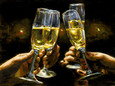 For a Better Life Con Champagne by Fabian Perez