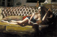 Study for Saba with Letter V by Fabian Perez