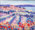 Poppies And Vines Provence by John Holt