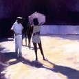 Afternoon Shadows - Canvas by David Farrant