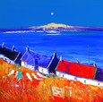 Washing Line Back of Arinagour Isle of Coll by John Lowrie Morrison