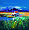 Croft on the Machair South Uist by John Lowrie Morrison